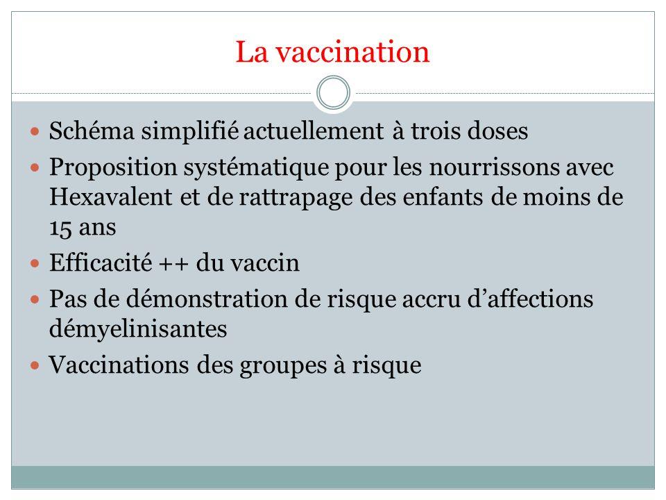 La vaccination Schéma simplifié actuellement à trois doses