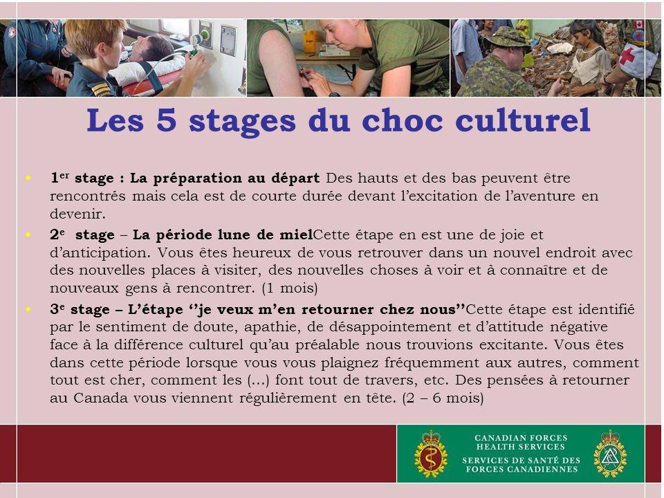 Les 5 stages du choc culturel