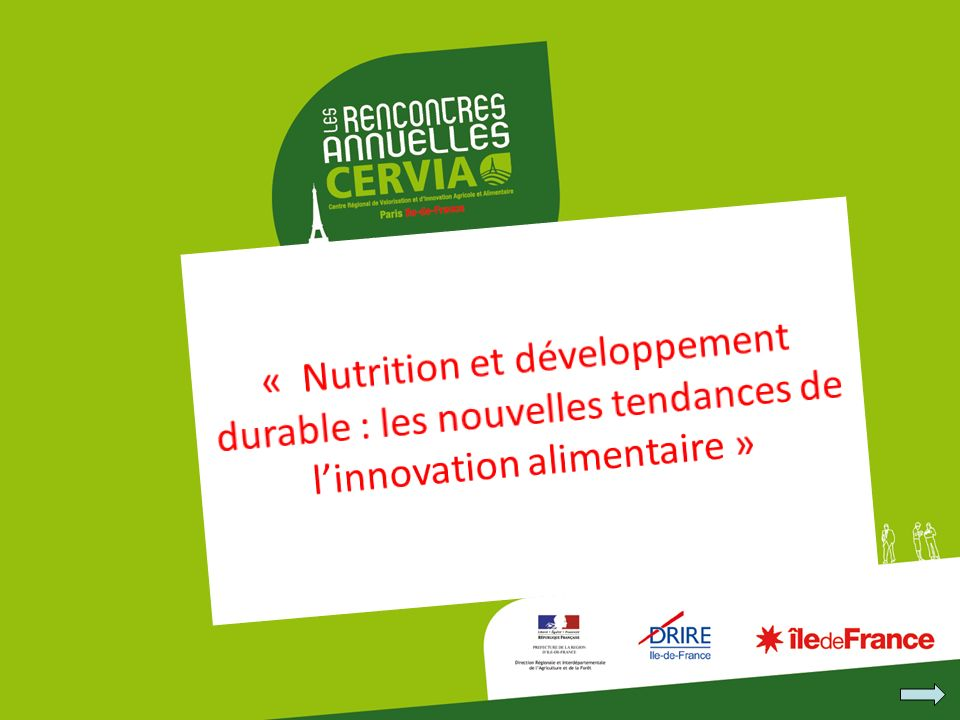 « Nutrition et développement durable : les nouvelles tendances de l'innovation alimentaire »