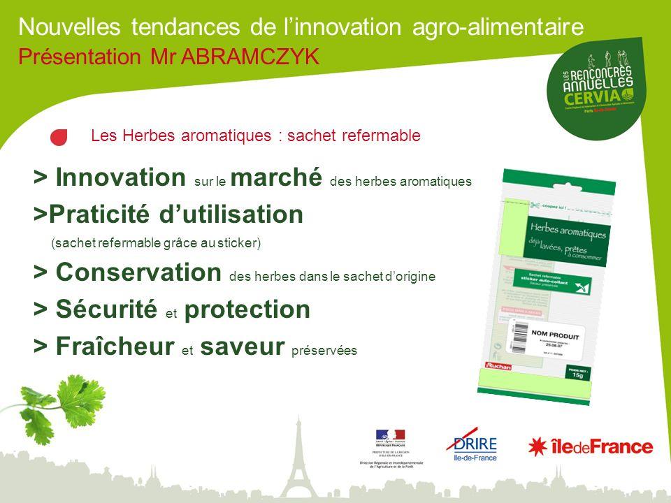 > Innovation sur le marché des herbes aromatiques