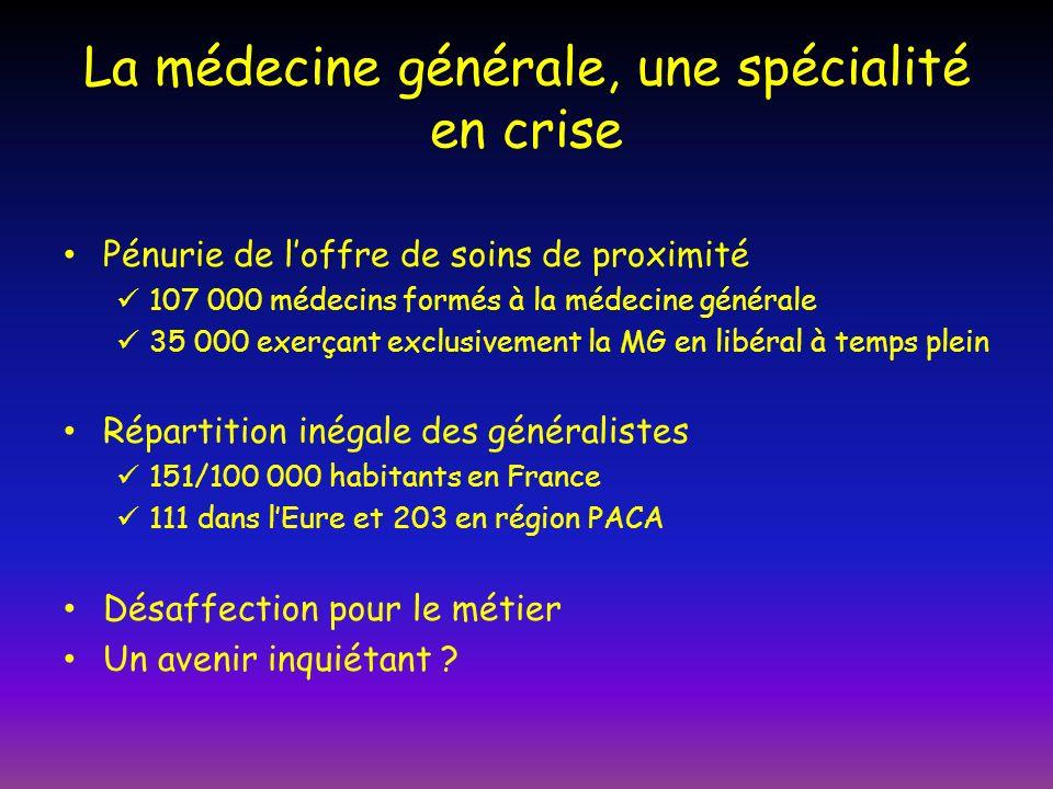 La médecine générale, une spécialité en crise