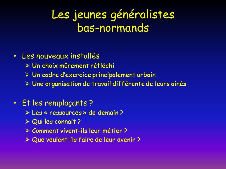 Les jeunes généralistes bas-normands