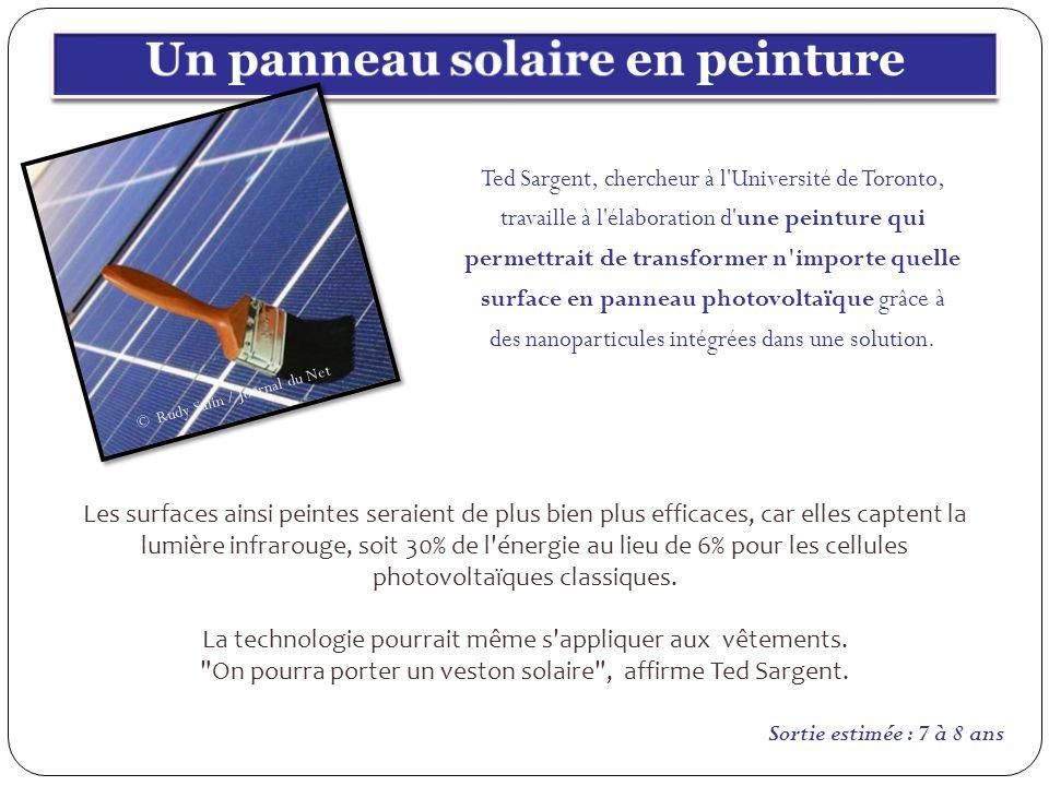 Un panneau solaire en peinture