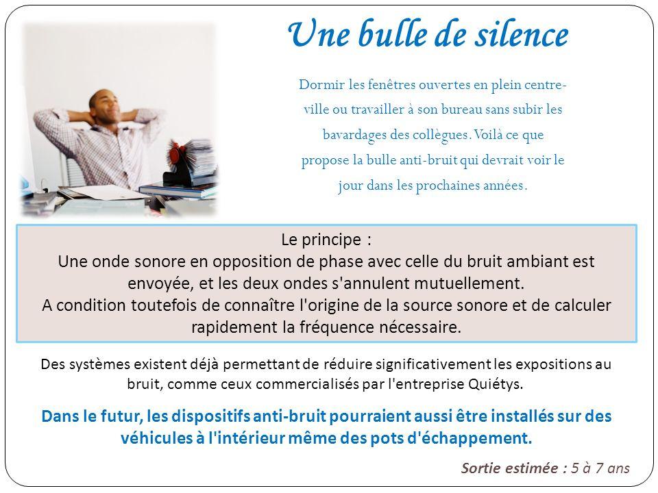 Une bulle de silence Le principe :