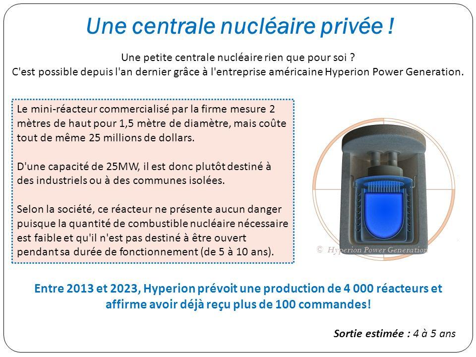 Une centrale nucléaire privée !