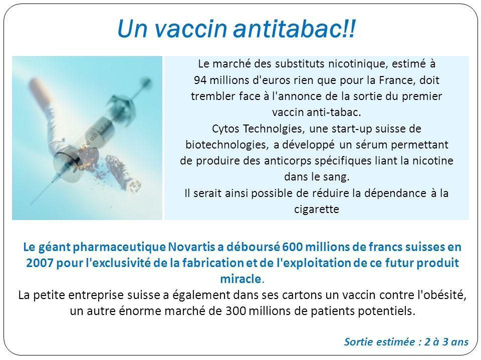 Un vaccin antitabac!!