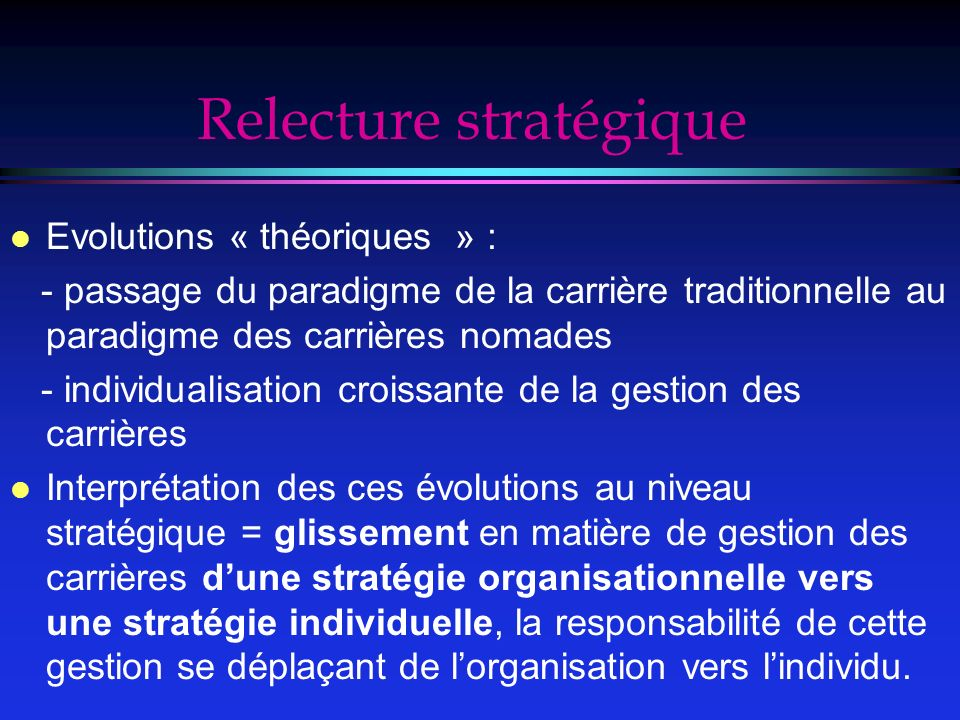 Relecture stratégique