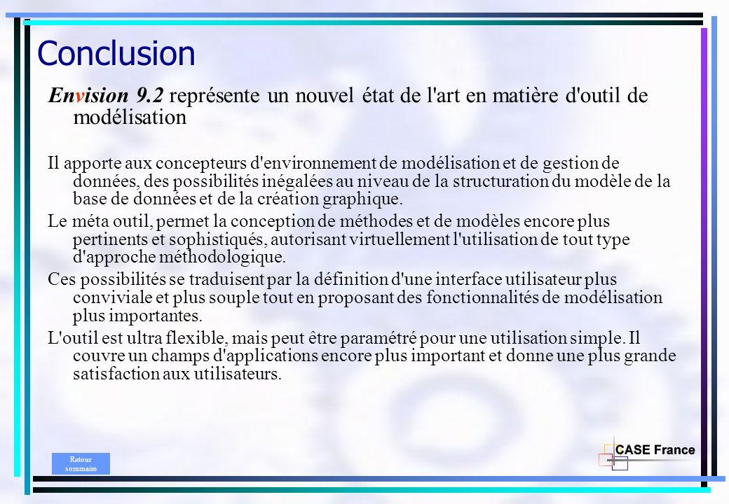Conclusion Envision 9.2 représente un nouvel état de l art en matière d outil de modélisation.