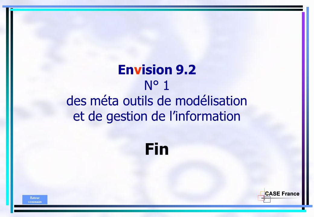 Envision 9.2 N° 1 des méta outils de modélisation et de gestion de l'information Fin