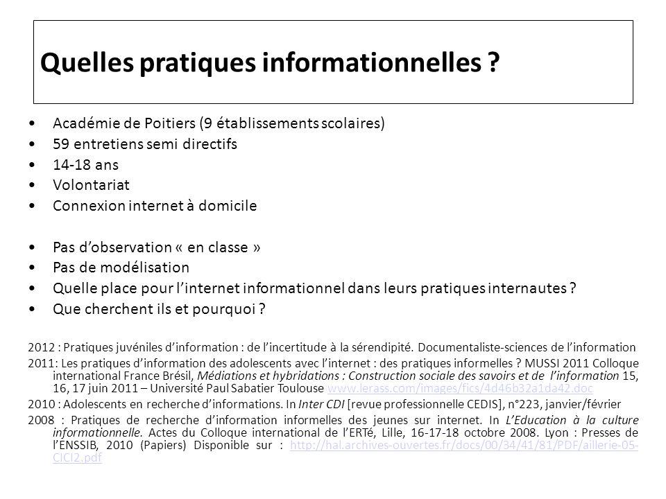Quelles pratiques informationnelles