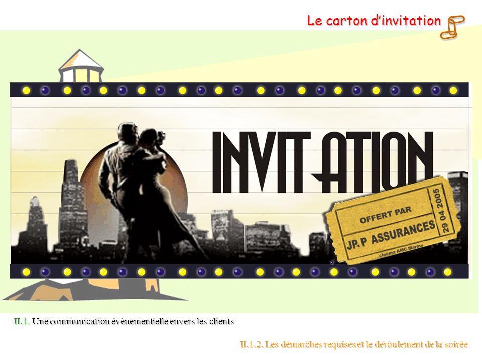  Le carton d'invitation