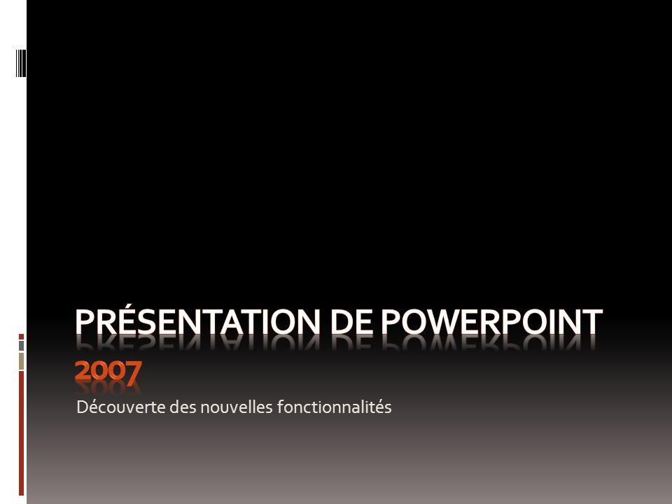 Présentation de PowerPoint 2007