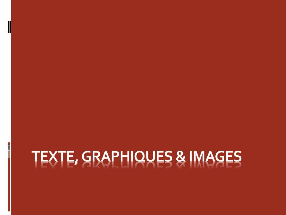 Texte, Graphiques & Images