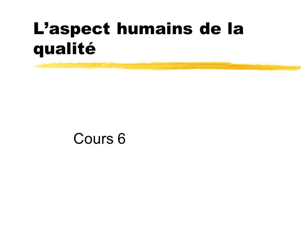 L'aspect humains de la qualité