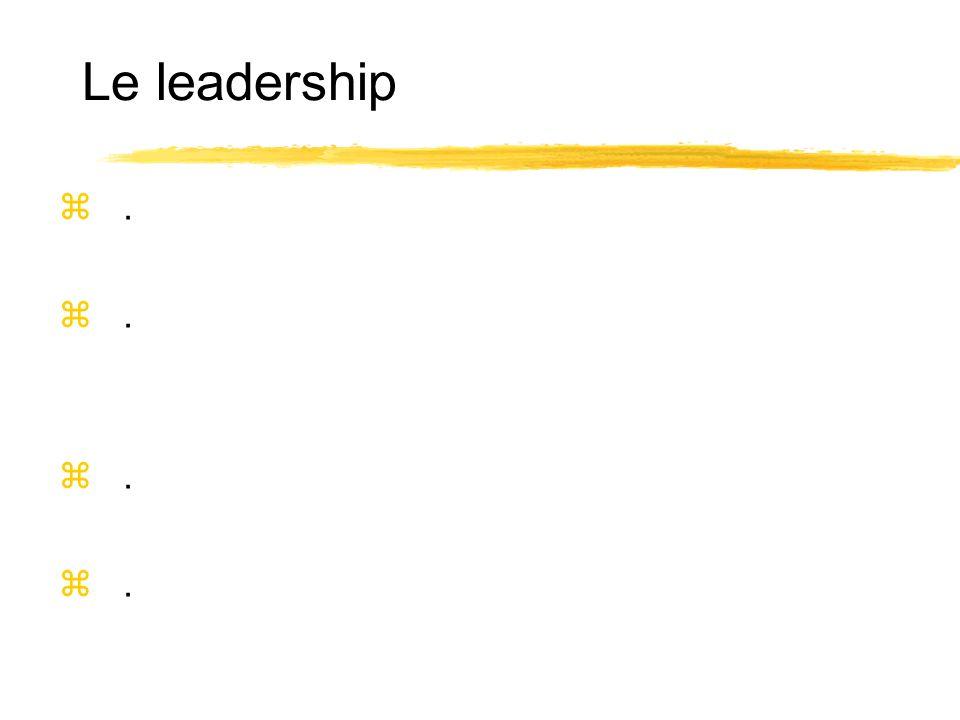 Le leadership .
