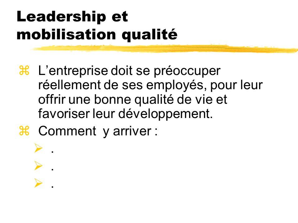 Leadership et mobilisation qualité