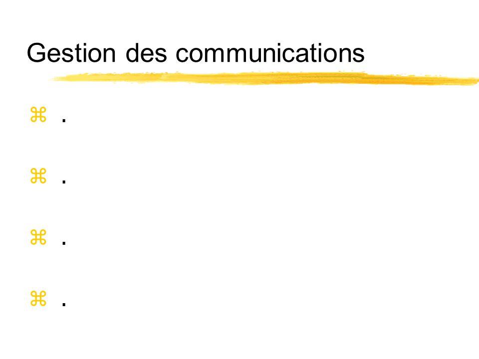 Gestion des communications