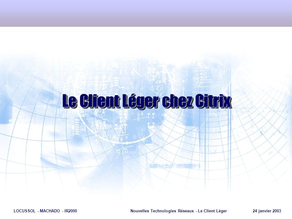 Le Client Léger chez Citrix