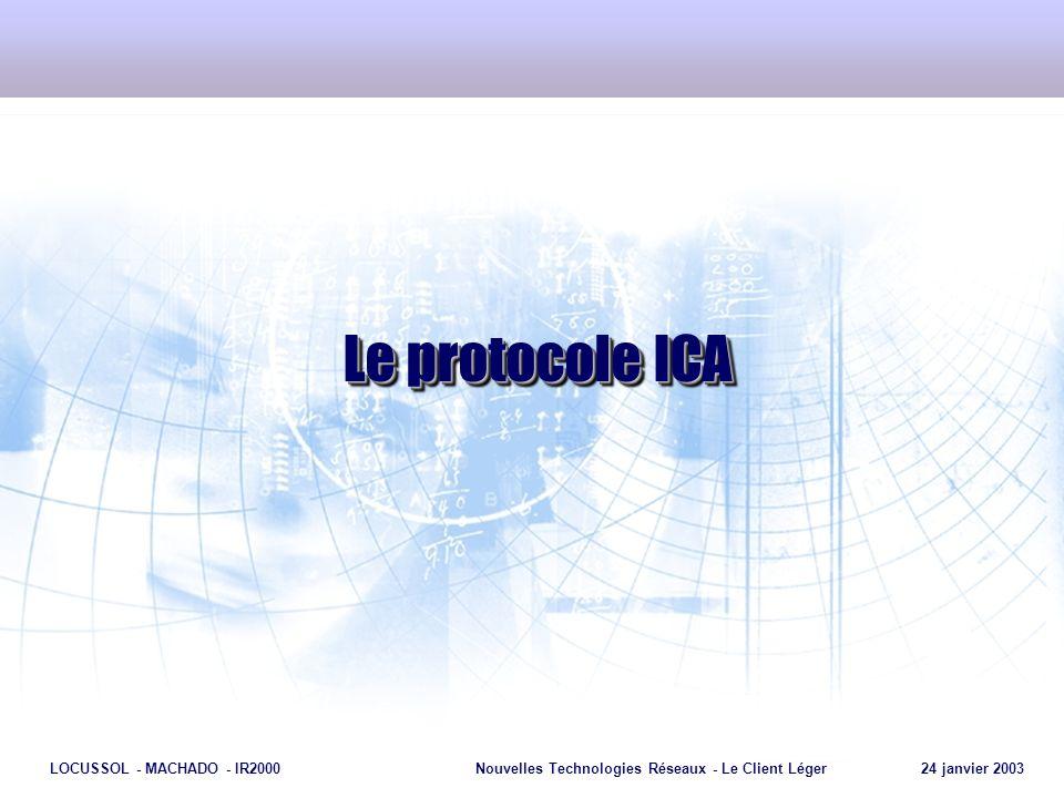 Le protocole ICA