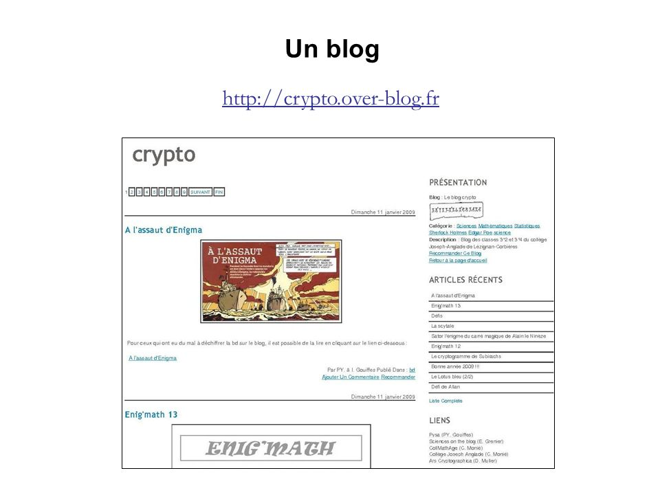 Un blog http://crypto.over-blog.fr