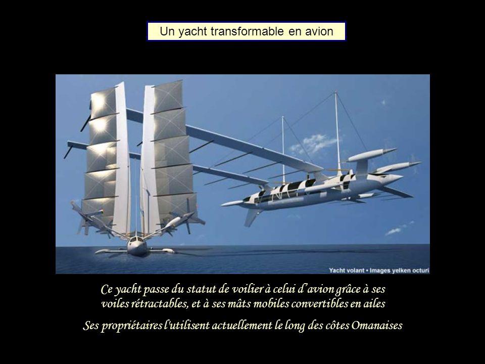 Ce yacht passe du statut de voilier à celui d'avion grâce à ses