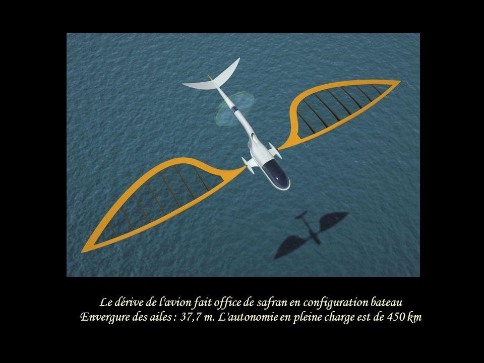 Le dérive de l avion fait office de safran en configuration bateau
