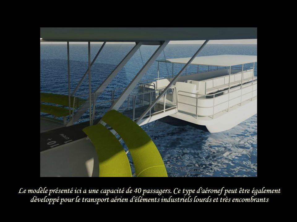 Le modèle présenté ici a une capacité de 40 passagers