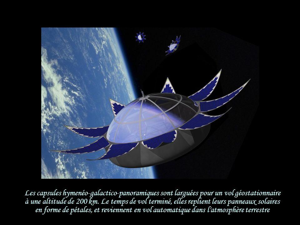 Les capsules hymenéo-galactico-panoramiques sont larguées pour un vol géostationnaire