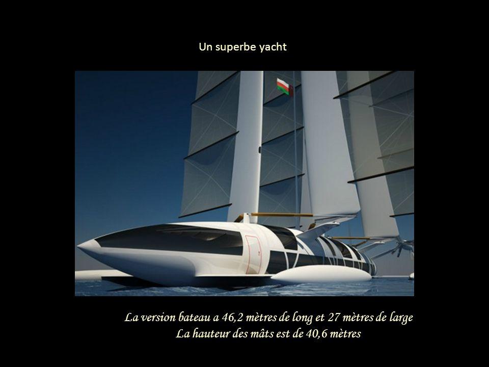 La version bateau a 46,2 mètres de long et 27 mètres de large