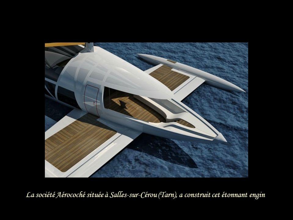 La société Aérocoché située à Salles-sur-Cérou (Tarn), a construit cet étonnant engin
