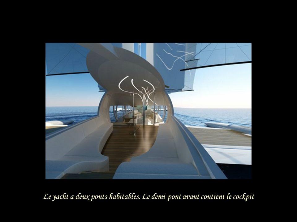 Le yacht a deux ponts habitables