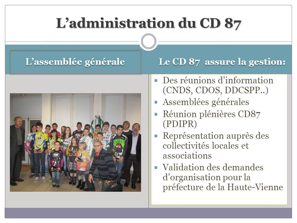 L'administration du CD 87