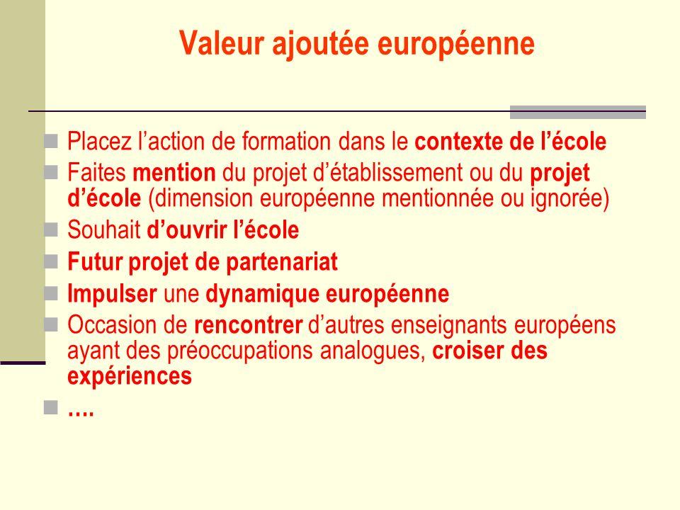 Valeur ajoutée européenne