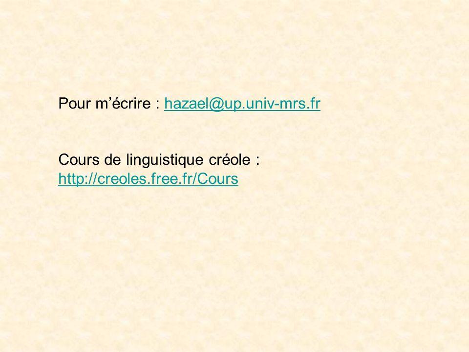 Pour m'écrire : hazael@up.univ-mrs.fr