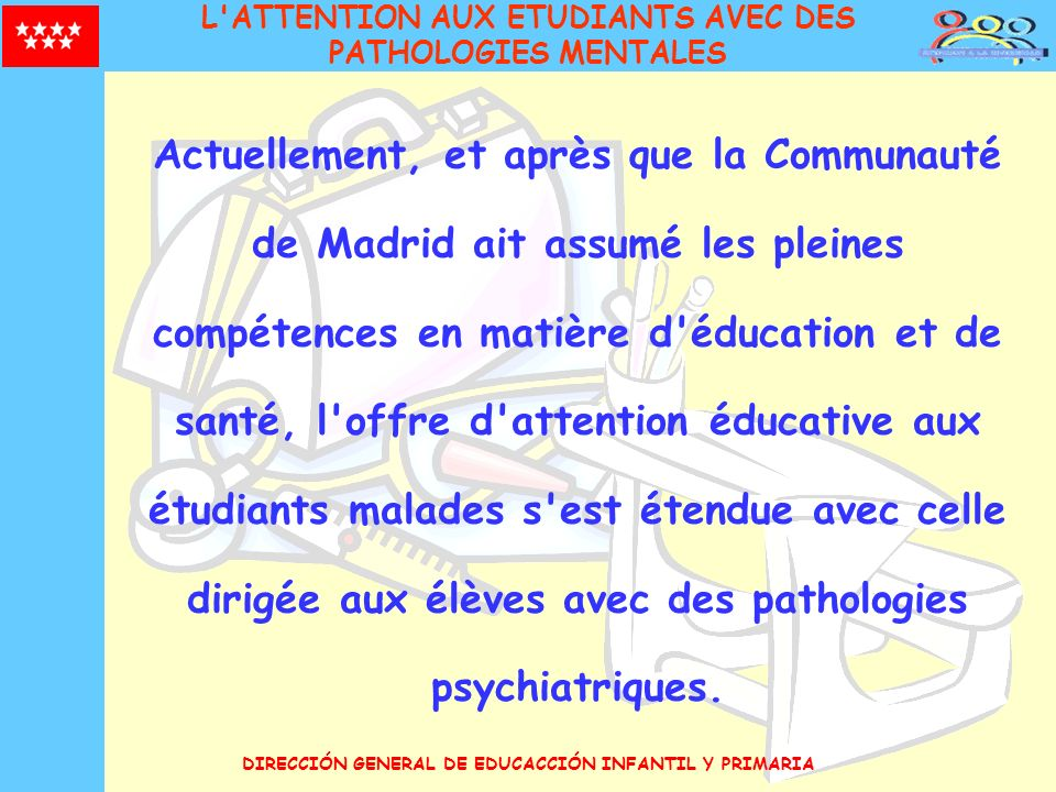 L ATTENTION AUX ETUDIANTS AVEC DES PATHOLOGIES MENTALES