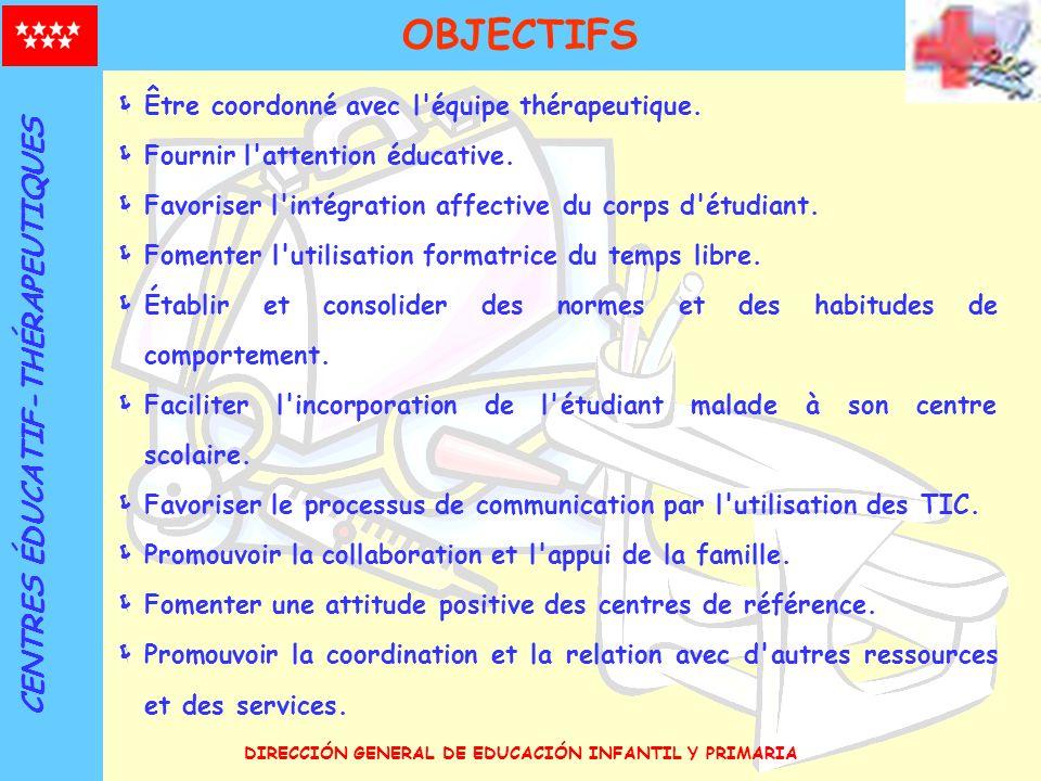 OBJECTIFS CENTRES ÉDUCATIF-THÉRAPEUTIQUES