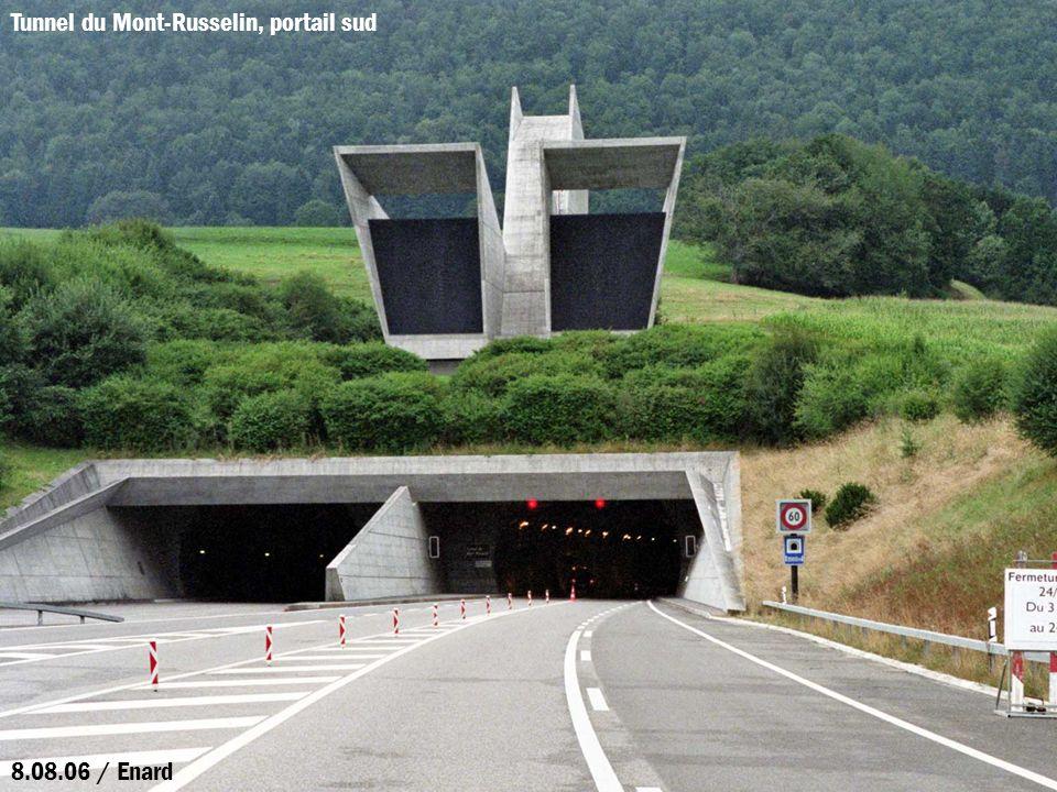 Tunnel du Mont-Russelin, portail sud