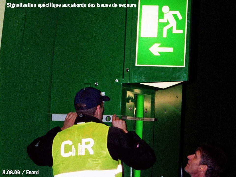 Signalisation spécifique aux abords des issues de secours