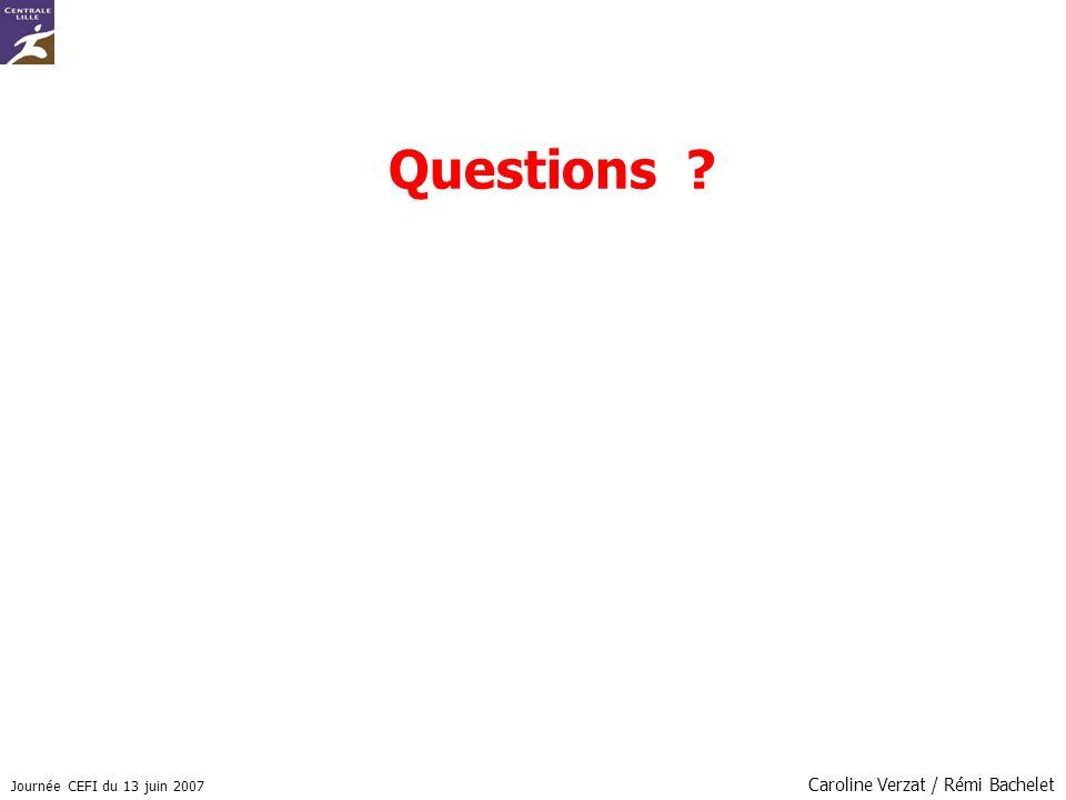 Questions Caroline Verzat / Rémi Bachelet