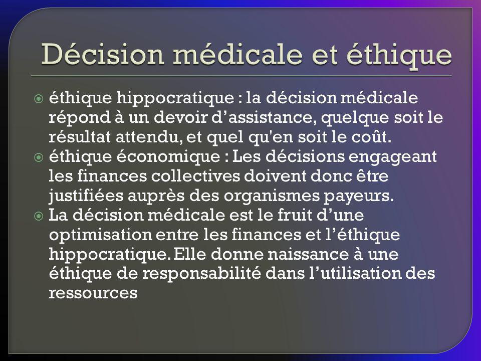 Décision médicale et éthique