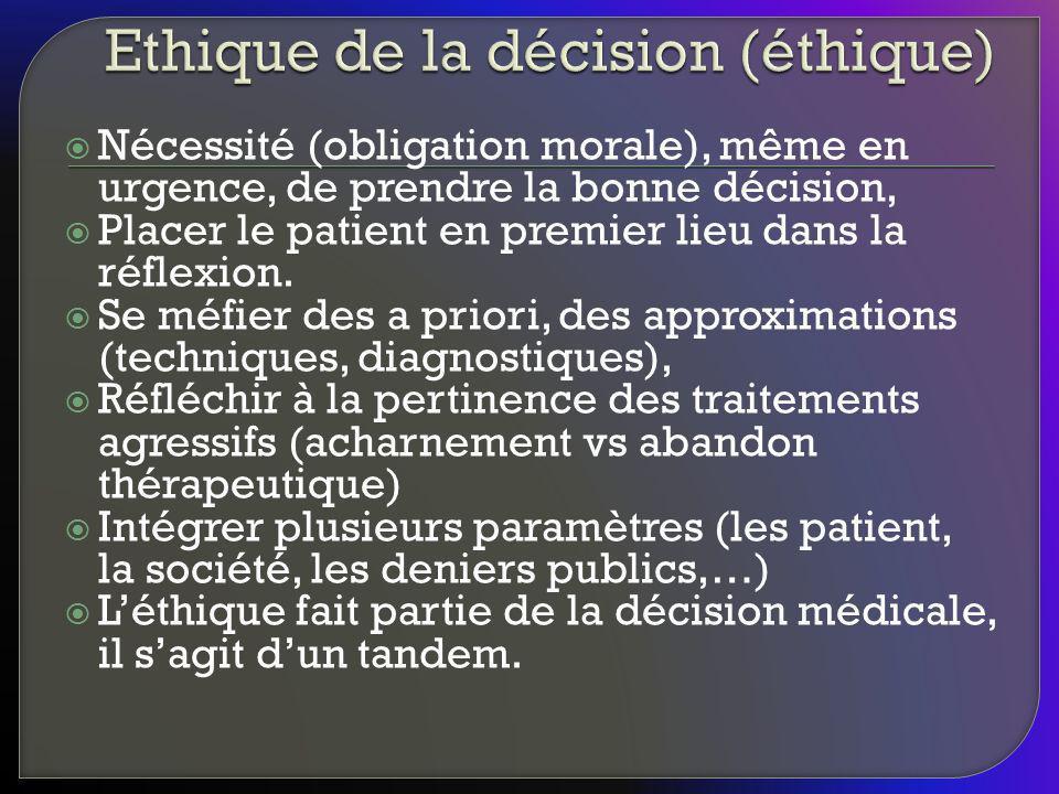 Ethique de la décision (éthique)