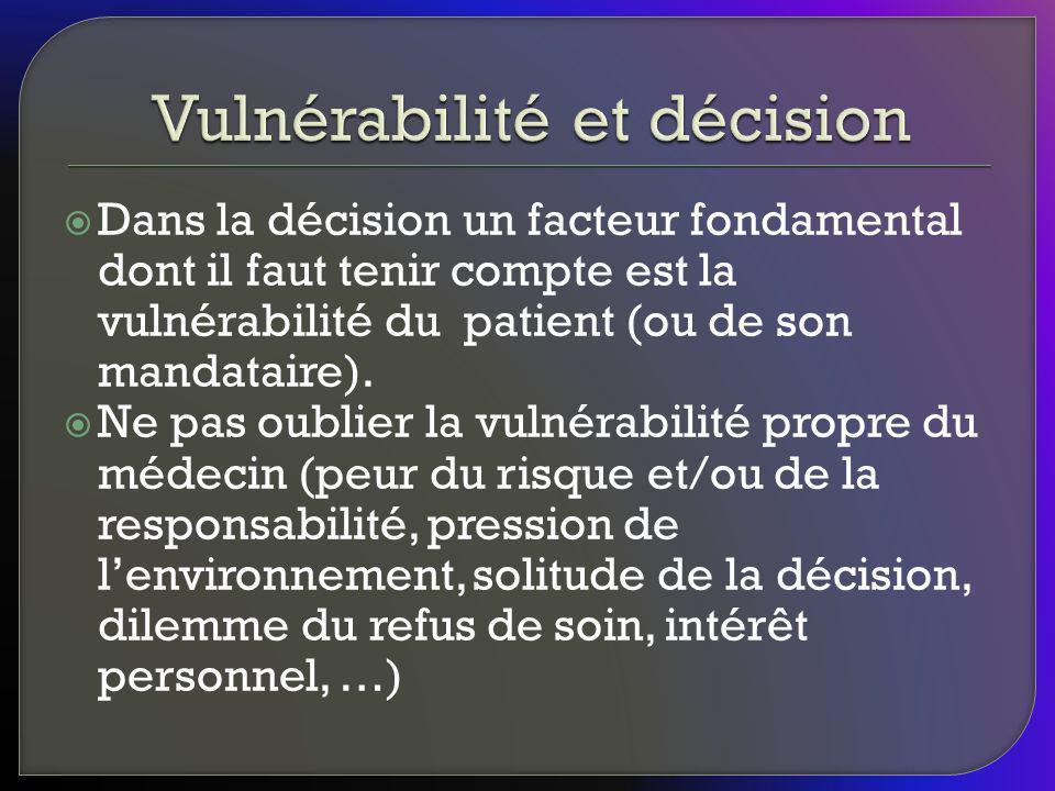 Vulnérabilité et décision