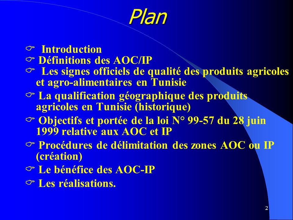 Plan  Introduction  Définitions des AOC/IP