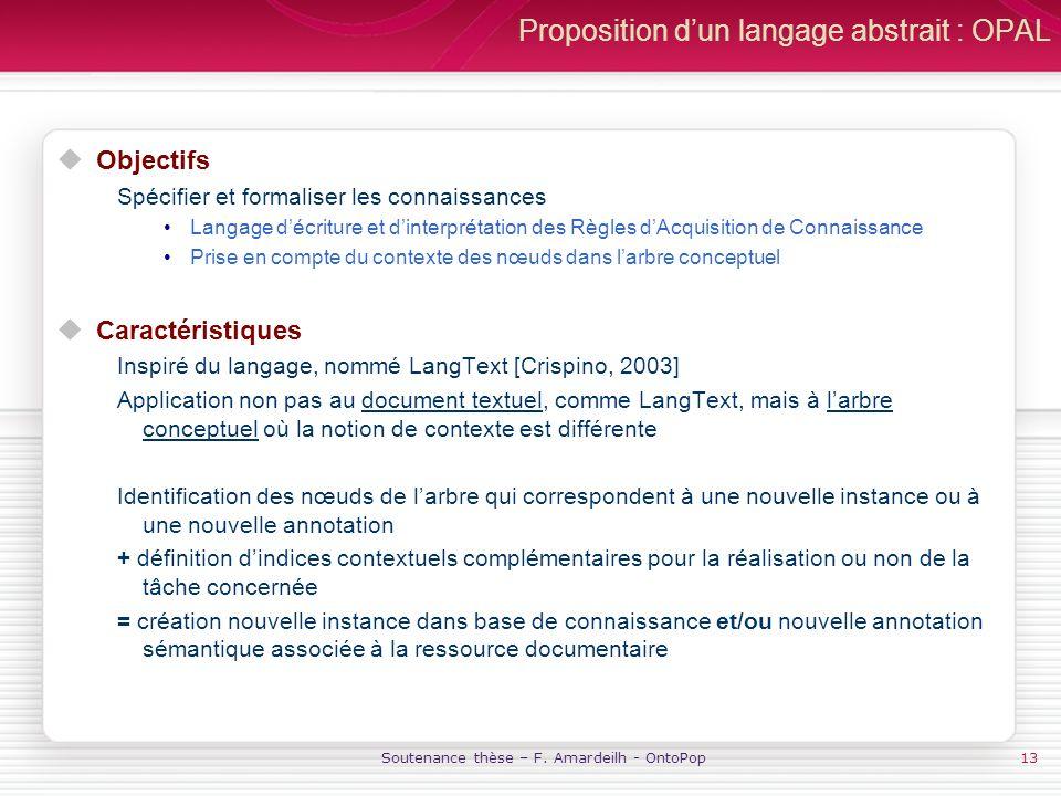 Proposition d'un langage abstrait : OPAL