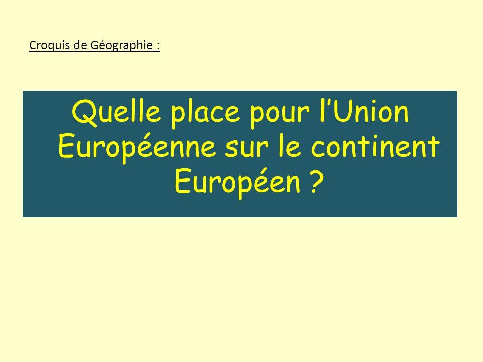 Croquis de Géographie :
