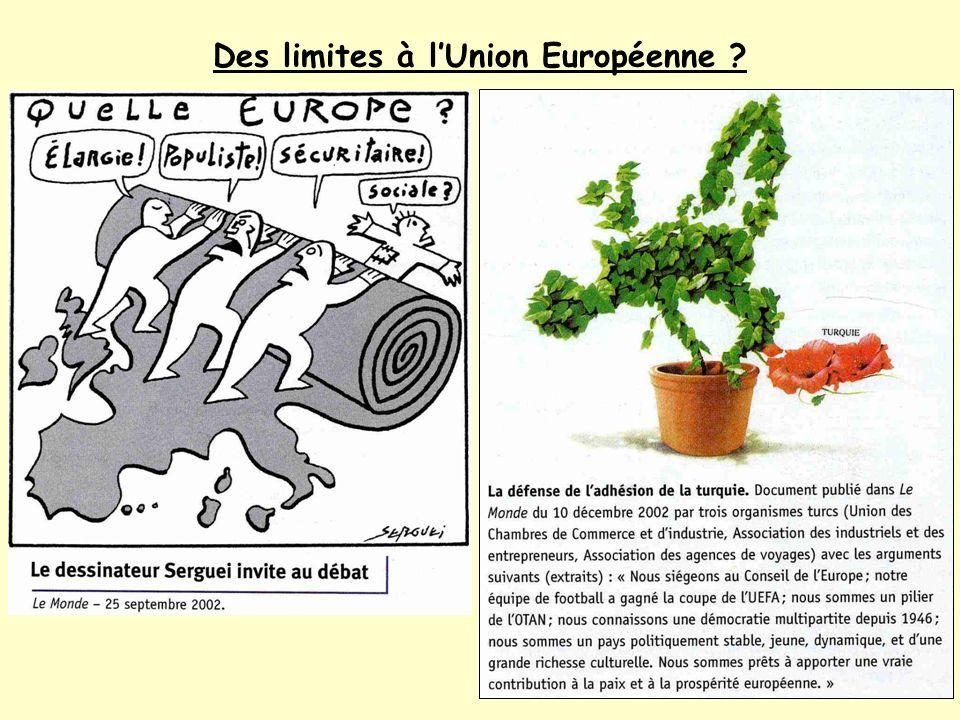 Des limites à l'Union Européenne