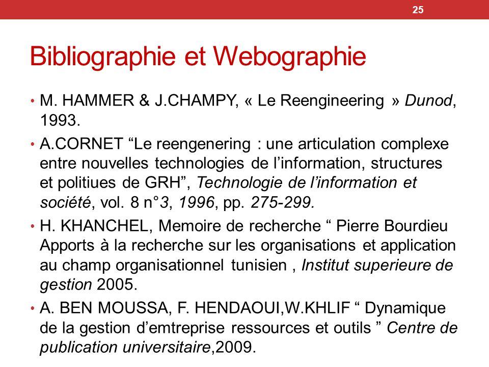 Bibliographie et Webographie