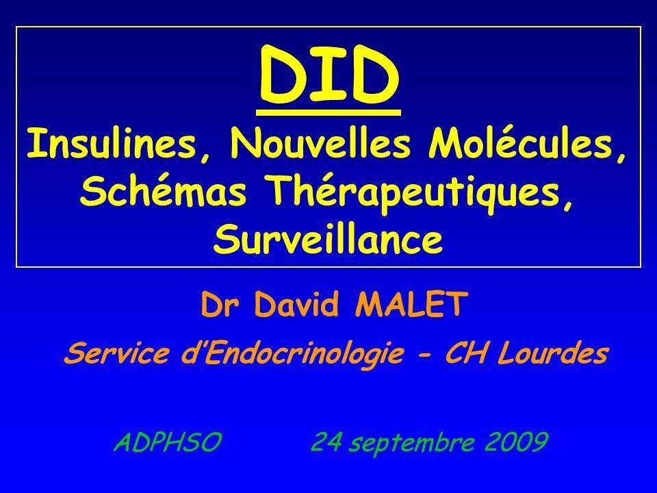 Dr David MALET Service d'Endocrinologie - CH Lourdes