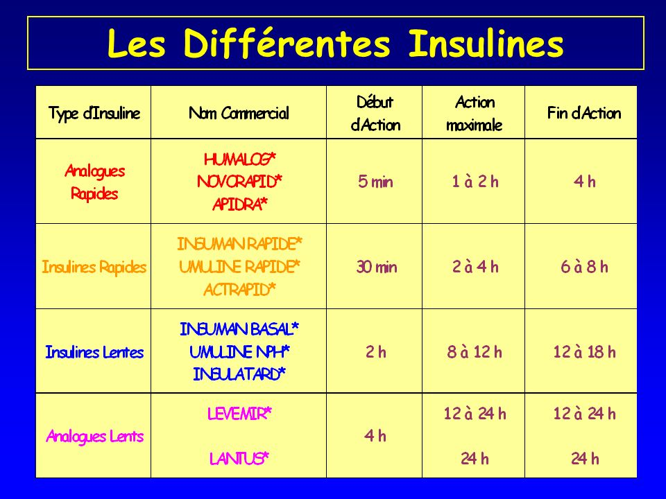 Les Différentes Insulines