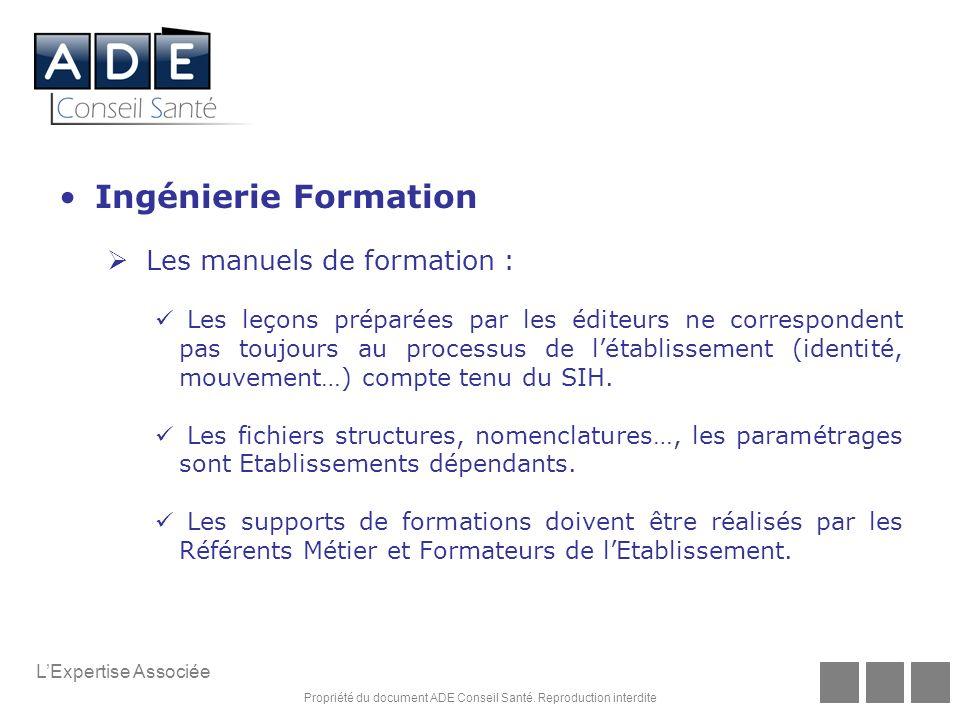 Ingénierie Formation Les manuels de formation :